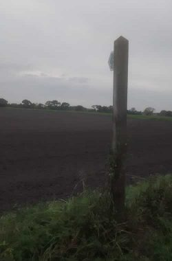 ploughed footpath